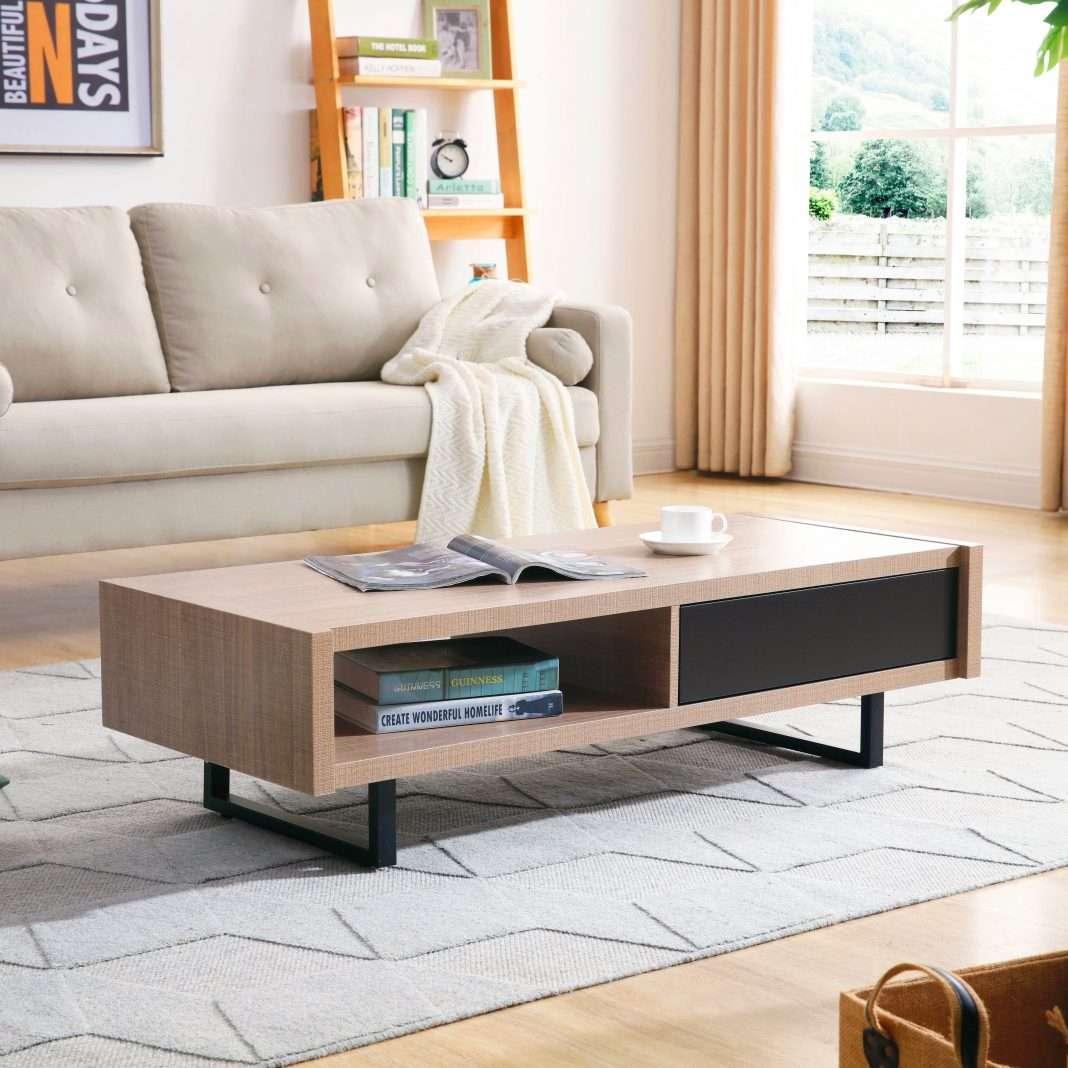 Mid Century Modern Room Coffee Table Tan